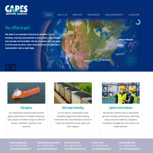Capes Shipping Agencies website