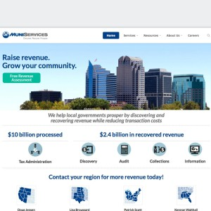 MuniServices website