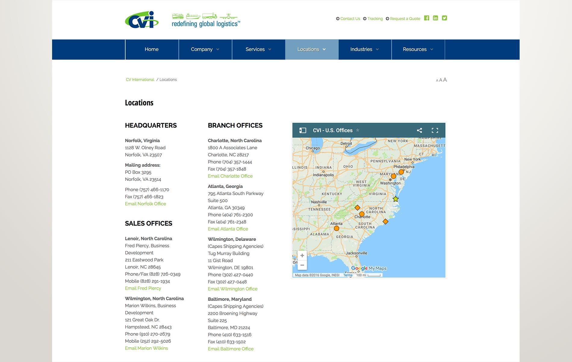 CV International website   Evolv Design